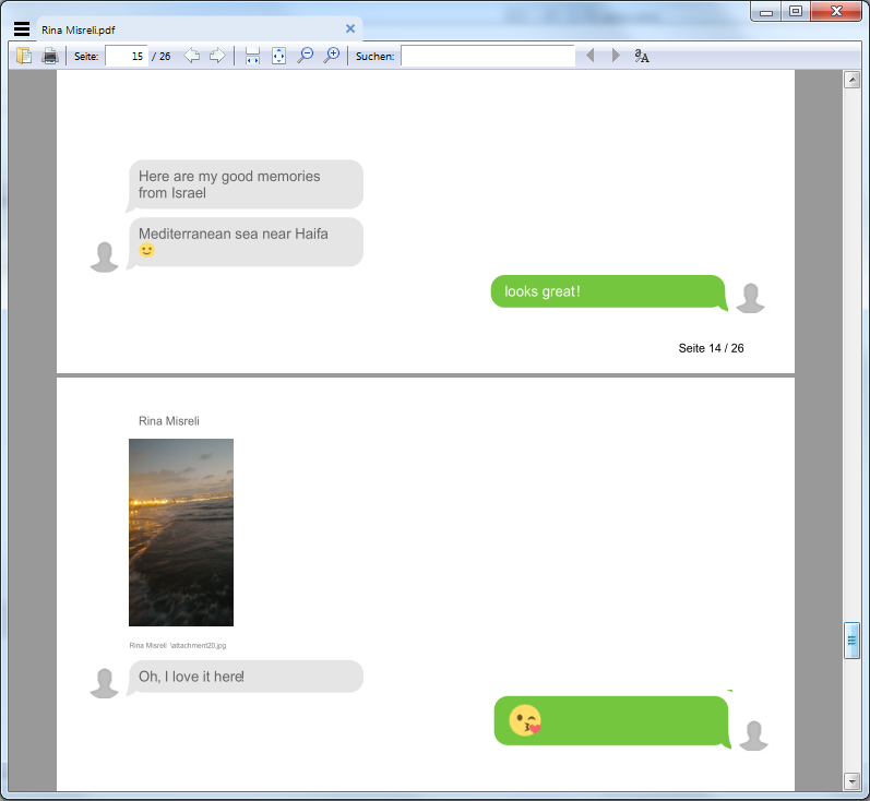 iMessages and Chats als PDF am PC sichern