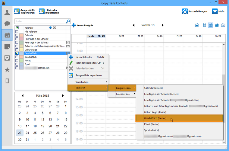 Gmail Kalender zum iPhone übertragen
