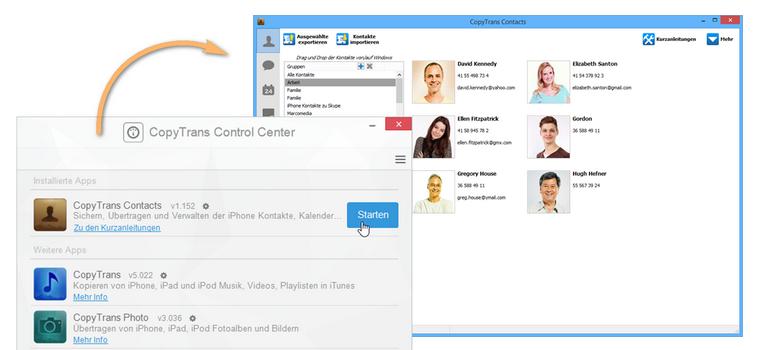 iPhone Kontakte am PC sichern