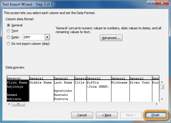 Aus Text Datei in Excel fertigstellen