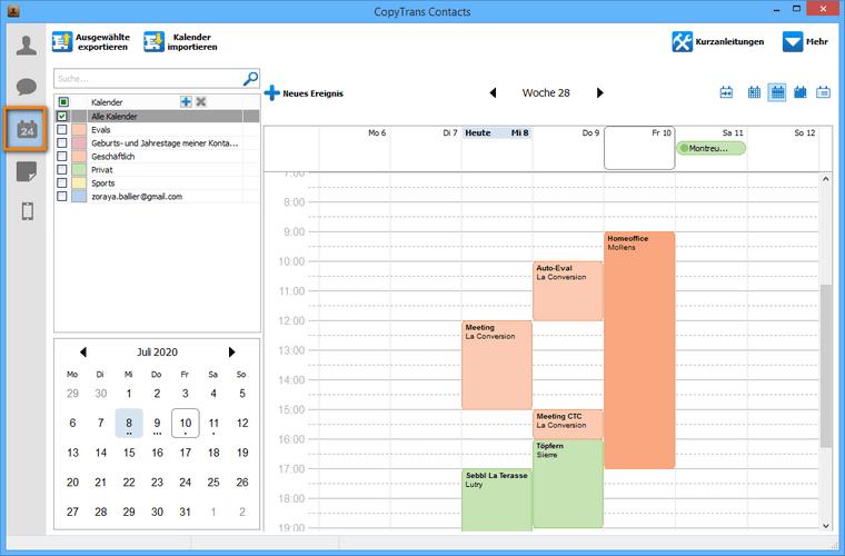 Kalender Icon auswählen