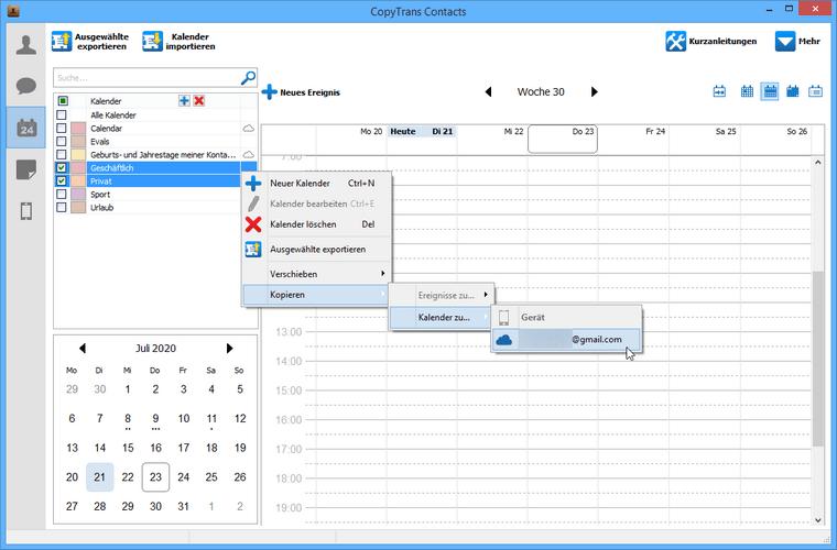 Outlook Kalender mit iCloud synchronisieren