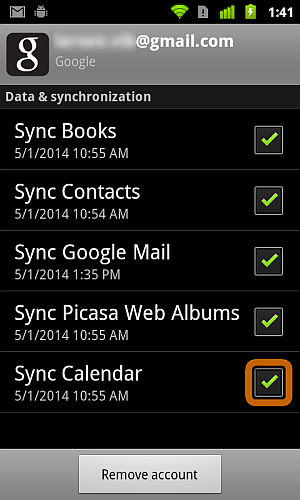 Android mit Gmail Synchronisieren