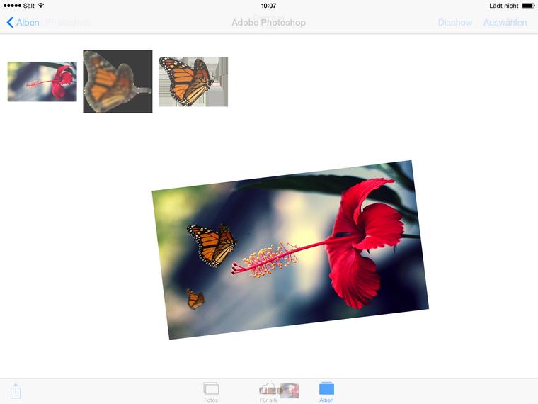 Fotos aus Photoshop exportieren und am iPad sichern