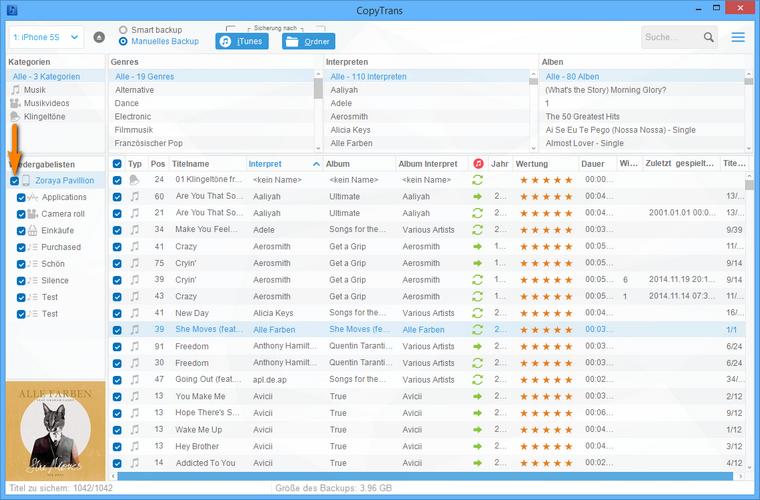 iPhone Musik am PC sichern