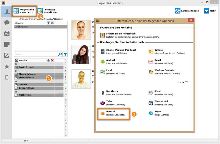 Outlook Kontakte am PC als csv.-Datei sichern