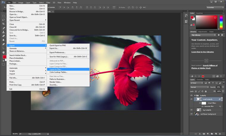 PSD Elemente in Dateien exportieren
