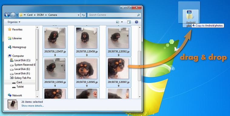 Bilder vom Android Speicher zum PC übertragen