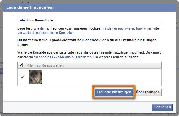 Neue Facebook Freunde hinzufügen