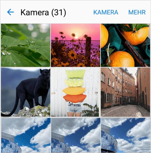 Bilder von iOS auf Android übertragen