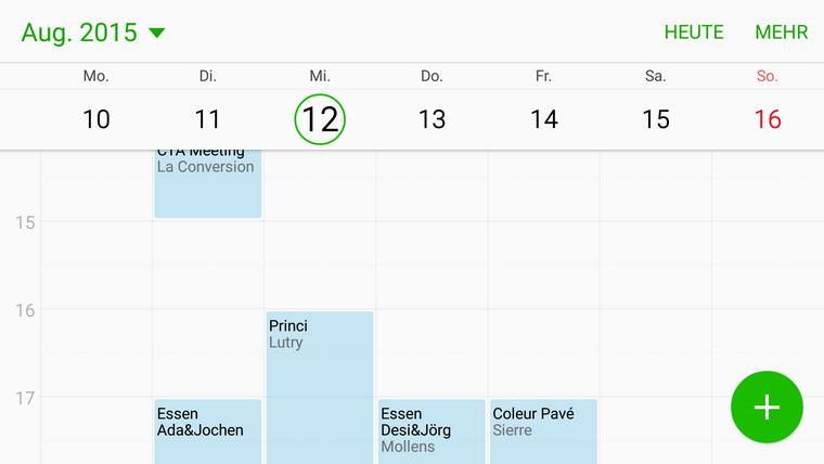 Samsung Kalender App .ics. importieren