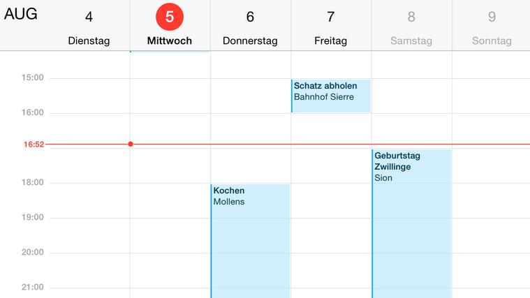 Kalender aus Samsung zum iPhone, iPad und iPod touch übertragen