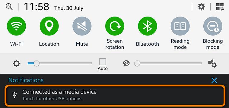 "USB-Debugging zum ""Mediengerät"" aktivieren"