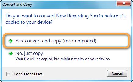 Musik in ein lesbares Format für Android konvertieren