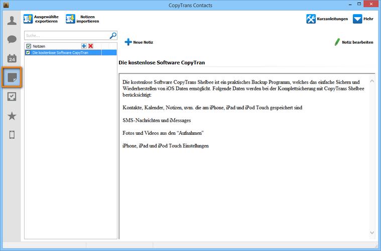Outlook Notizen zum iPhone übertragen