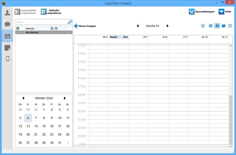 iOS Kalender am PC ohne iTunes bearbeiten
