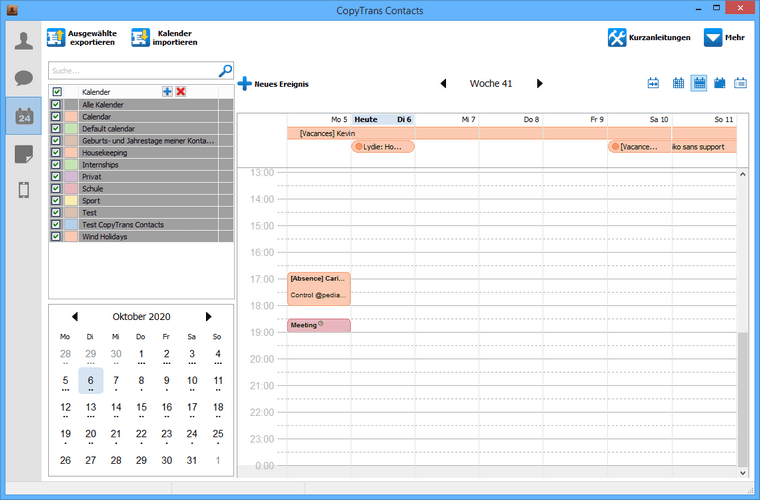 Kalenderereignisse vom iOS Gerät entfernen
