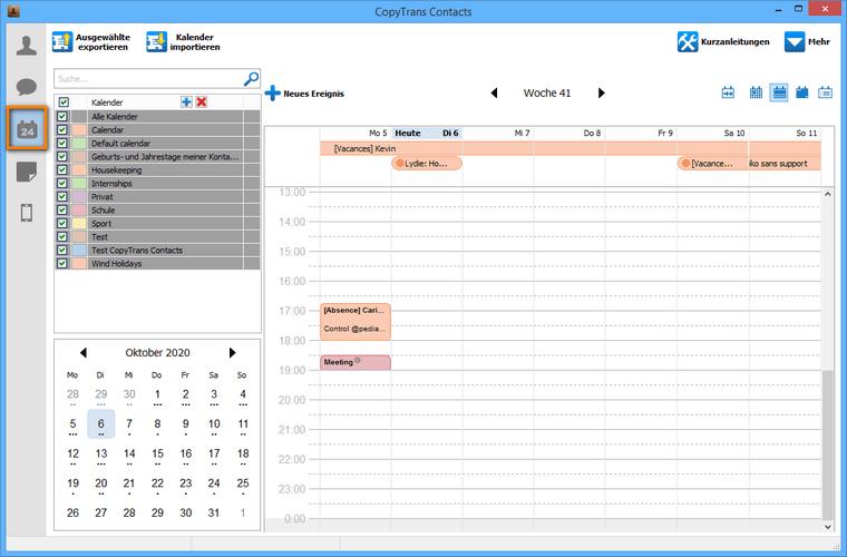 iPhone Kalender ohne iTunes verwalten