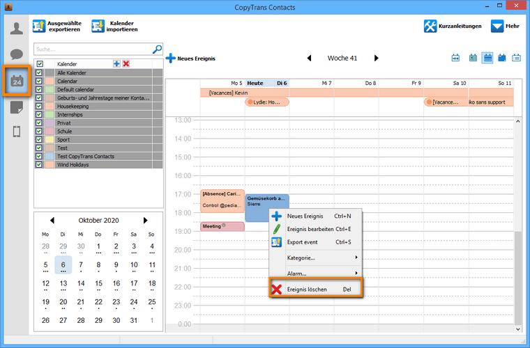 Einzelne kalendereinträge vom iPhone entfernen