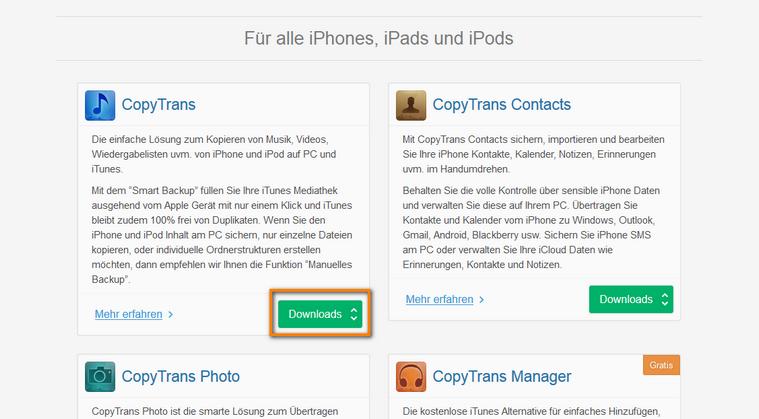 iPhone ohne iTunes verwalten