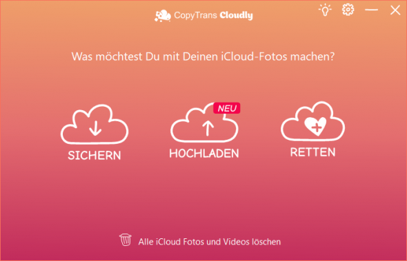 CopyTrans Cloudly Hauptfunktionen