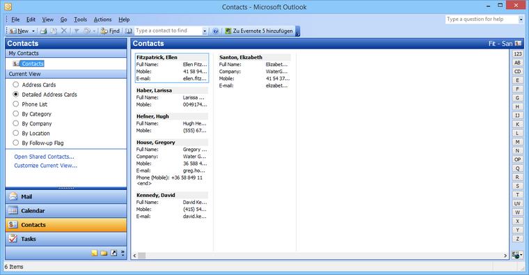 iCloud Kontakte in Outlook importieren