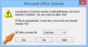 Zugriff auf Outlook gewährleisten