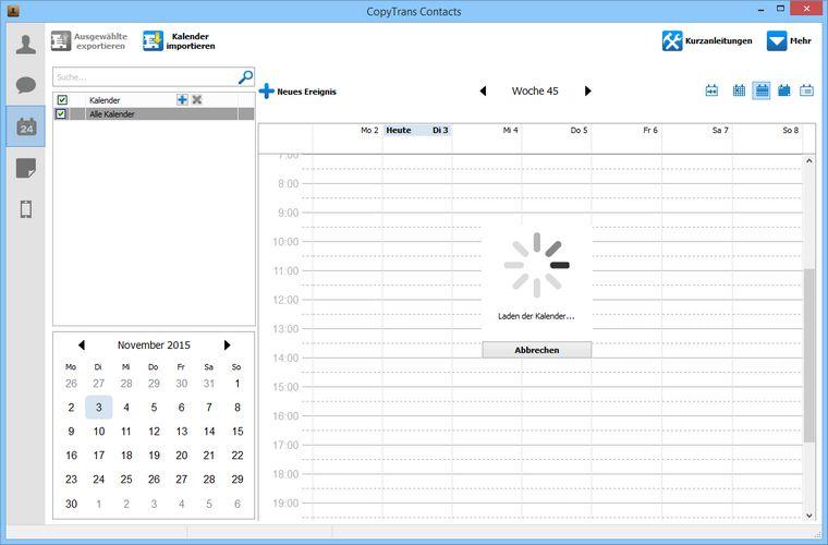 iCloud Kalender laden