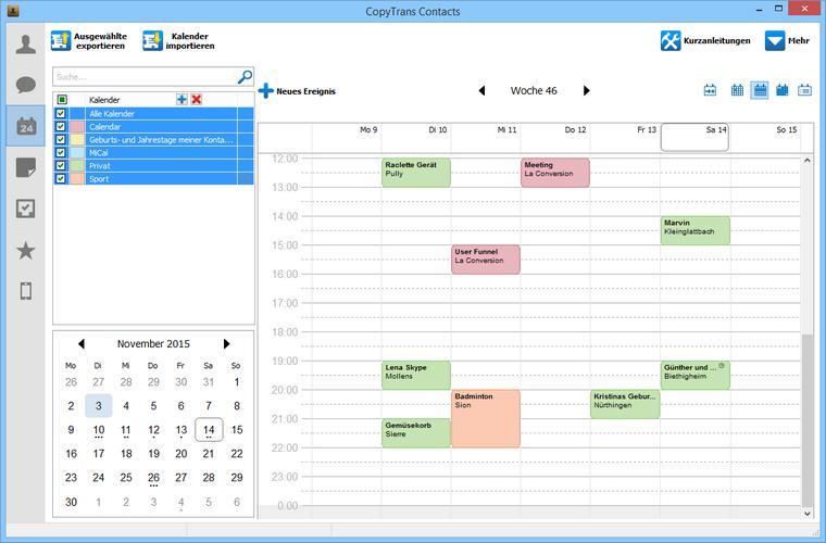 iCloud kalender am iPhone laden