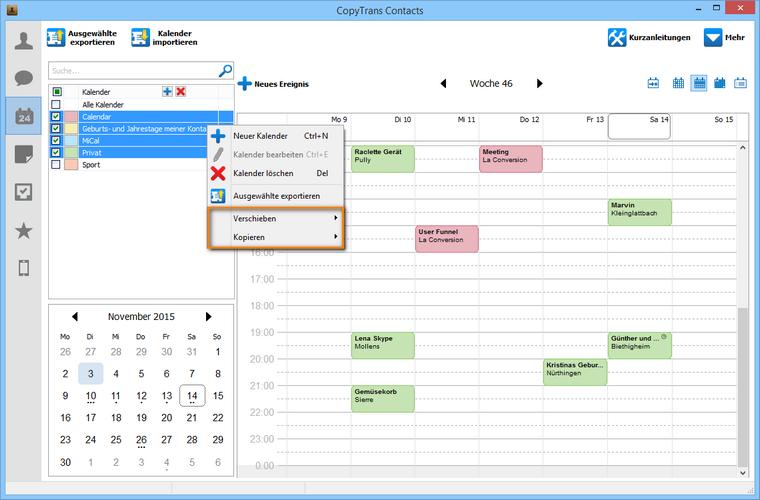 iPhone Kalender nach iCloud verschieben