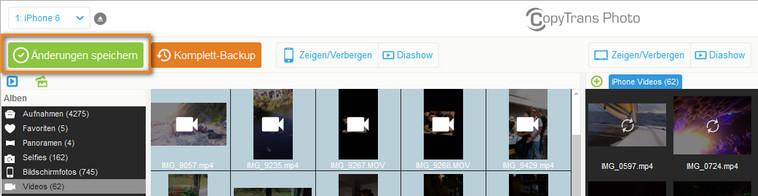 iOS Videos zum PC exportieren