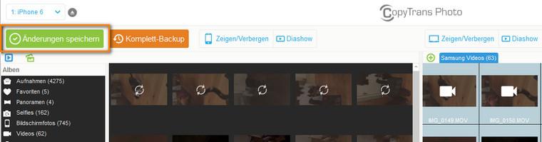 Videos vom PC am iPhone sichern