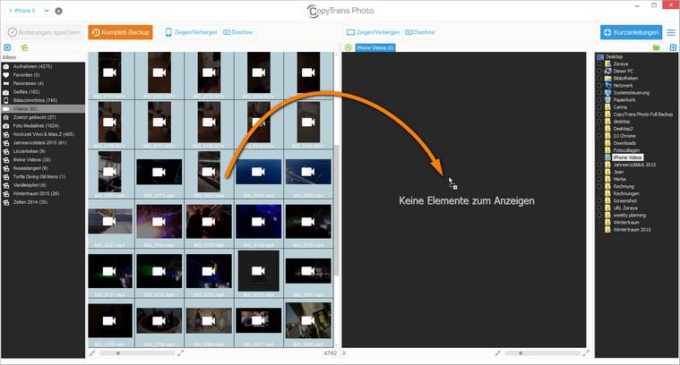 iPad Videos am PC sichern