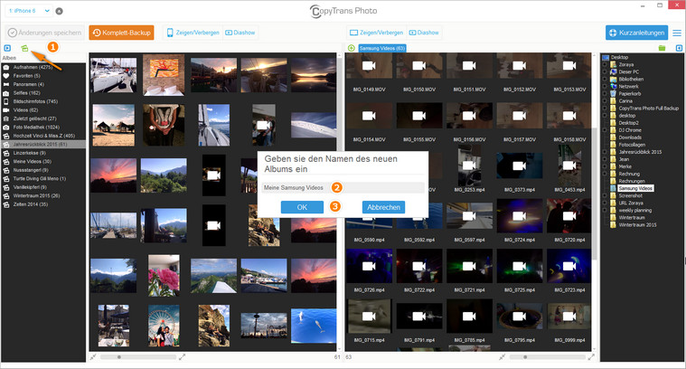 iPhone Fotoalbum am PC erstellen