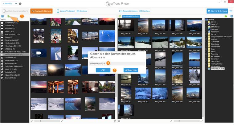 iPhone Fotoalbum erstellen