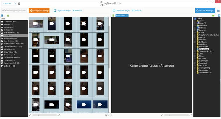 Videos vom iOS Gerät zum PC kopieren