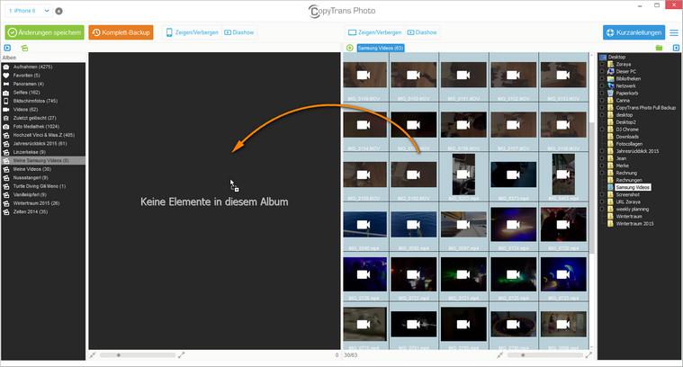 Videos vom PC zum iOS Gerät kopieren