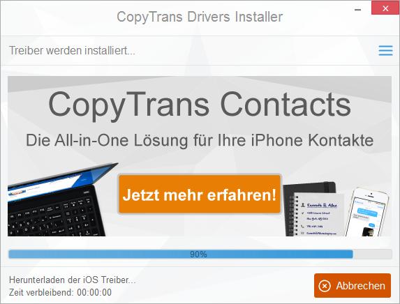 Treiber für iPhone am PC installieren