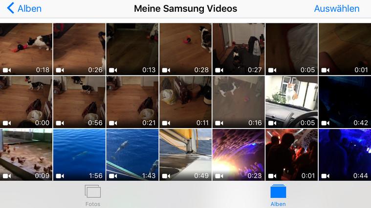 Videos vom Android zum iPhone übertragen