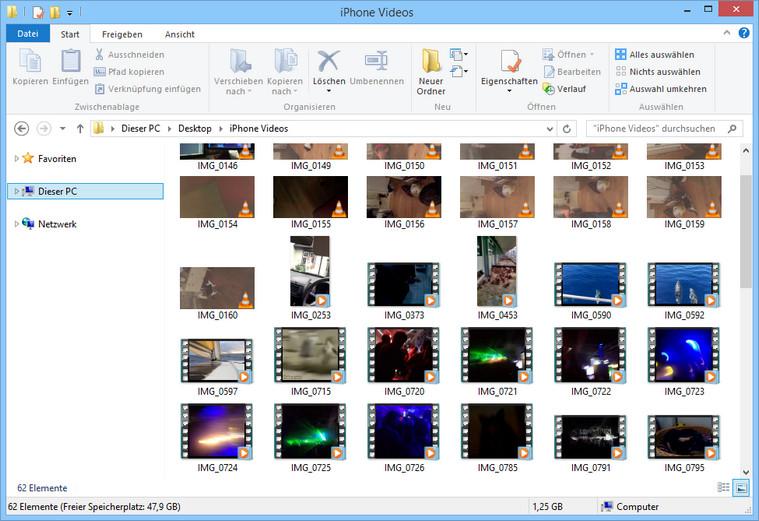 iPhone, iPad und iPod touch Videos zum PC übertragen