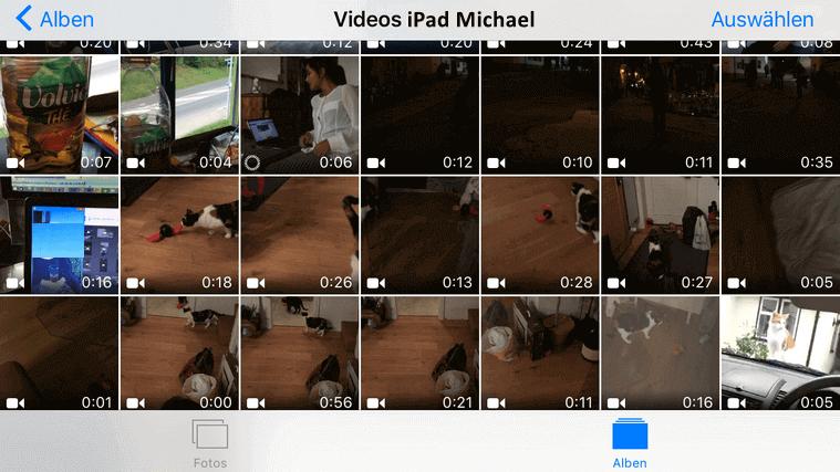 Videos sind auf iPad übertragen
