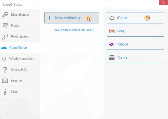 Cloud Setup CopyTrans Contacts
