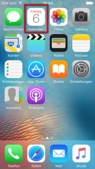 iPhone Kalender anzeigen