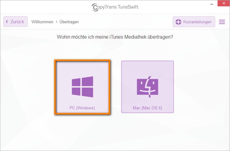 iTunes Mediathek auf das neue PC übertragen