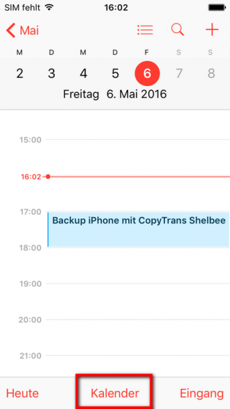 iPhone Kalender Einstellungen