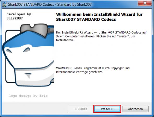 shark007 codecs installieren