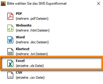 iPhone Nachrichten in Excel exportieren