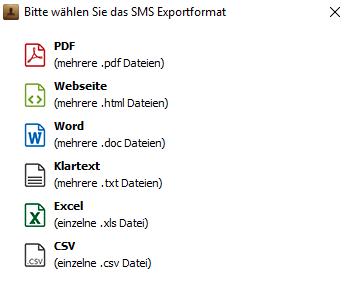 iMessages, Whatsapp, Viber Nachrichten exportieren