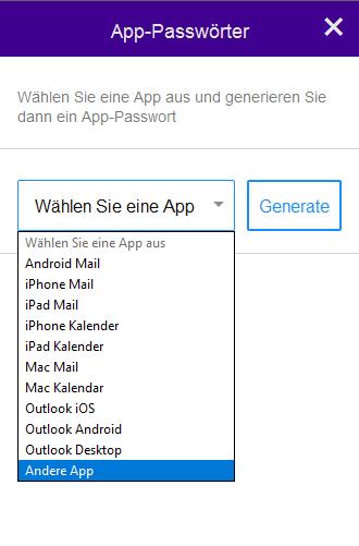 App auswählen