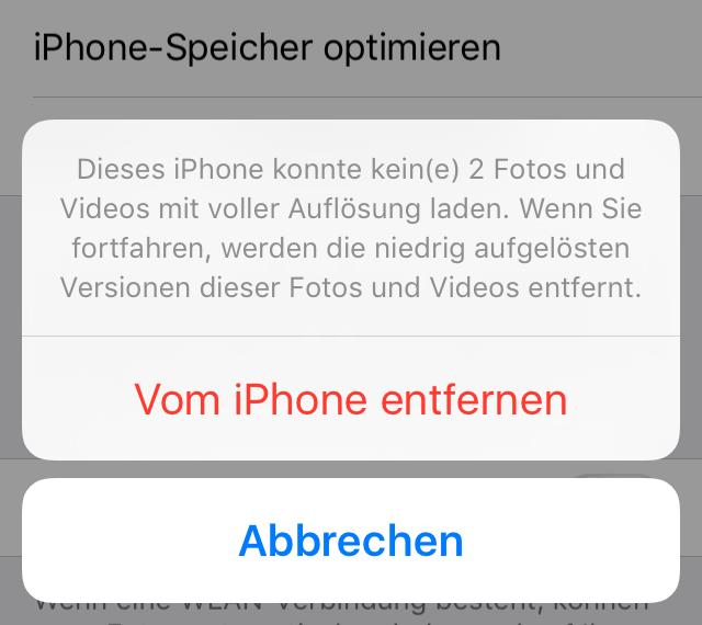 Vorschaubilder vom iPhone entfernen